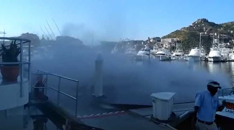 Explosion in Boat in the Cabo Marina