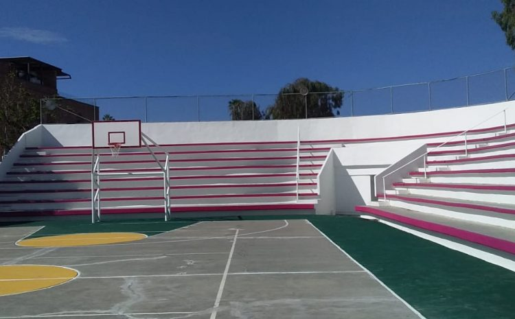 Local Team Gives Court a Fresh Paint