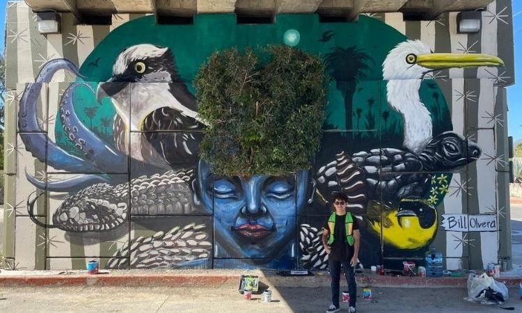 Beautiful Mural Adorns La Playita Bridge