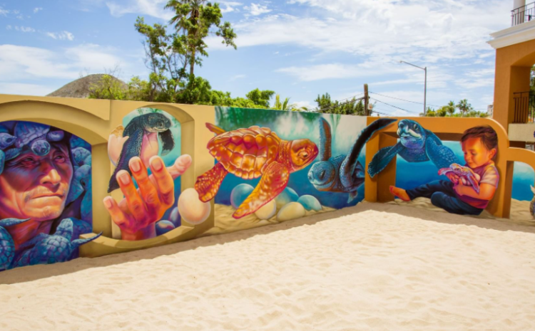 3D Pro-Conservation Mural at Casa Dorada Resort