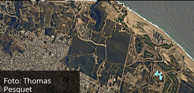 Gigantic Cabo Saltwater Pool Seen from the Space